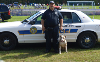 POUGHKEEPSIE POLICE ADDS RESCUED PIT BULL TO THE FORCE!